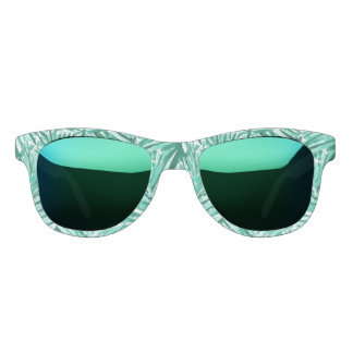ON VACAY Tropical Palm Watercolor Print Sunglasses