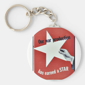 On War Production Has Earned A Star Keychains