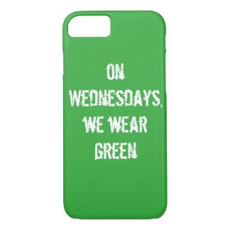 """on Wednesdays, we wear green"" slim phone cover"