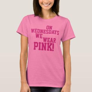 On Wednesdays We Wear Pink T Shirt Wednesday Clothing &am...