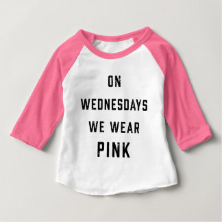 On Wednesdays We Wear Pink   Vintage Baby T-Shirt