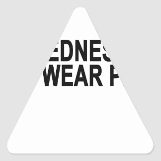 On Wednesdays We Wear Pink Women's T-Shirts.png Triangle Sticker