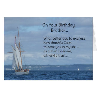 On your birthday, Brother... Card