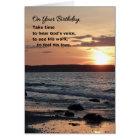 On Your Birthday, Take Time...Religious Card