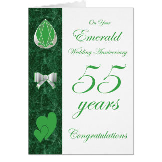 On Your Emerald Wedding Anniversary Greeting Card