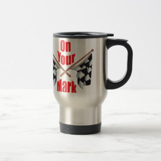 On Your Mark Stainless Steel Travel Mug