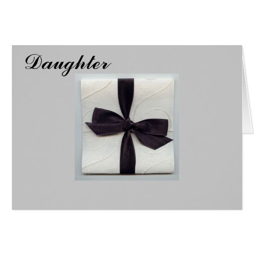 """ON YOUR WEDDING DAY """"DAUGHTER"""" GREETING CARDS"""