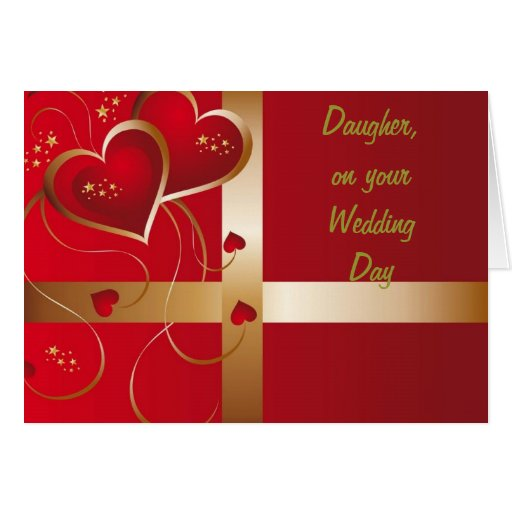 """ON YOUR WEDDING DAY """"DAUGHTER"""" CARDS"""