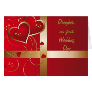"ON YOUR WEDDING DAY ""DAUGHTER"" GREETING CARD"