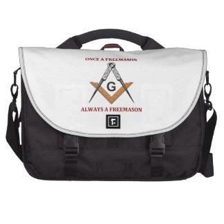 Once A Freemason Laptop Messenger Bag