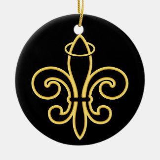 Once a SAINT Double-Sided Ceramic Round Christmas Ornament