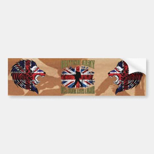 Once A Soldier…. always A Soldier… UK Bumper Sticker