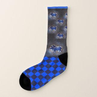 Once in a Blue Moose in Space  - Sock Socks
