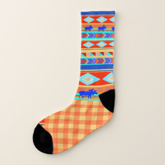 Once in a Blue Moose  - Striped Socks 1