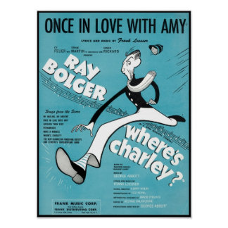 Once In Love With Amy Songbook Cover Posters