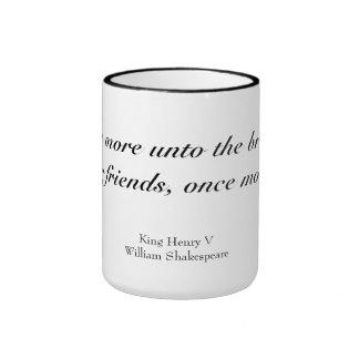 Once more unto the breach dear friends ringer mug