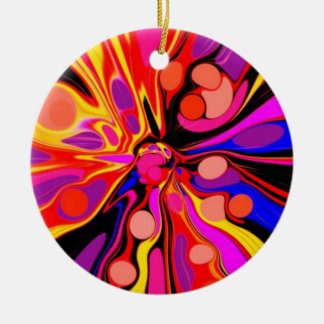Once Upon A Groovy Time Round Ceramic Decoration