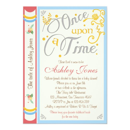Once Upon A Time Baby Shower Invitation Fairy