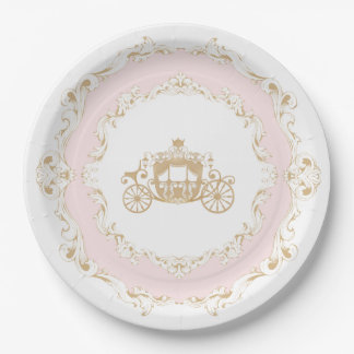 Once Upon a Time Carriage Plates 9 Inch Paper Plate