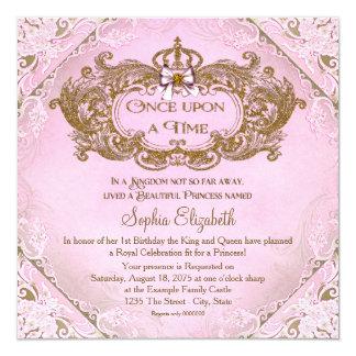 Once Upon a Time Princess 1st Birthday Invitation