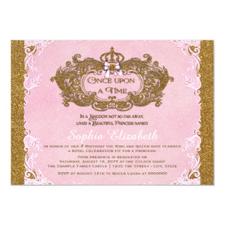 Once Upon a Time Princess Birthday 13 Cm X 18 Cm Invitation Card