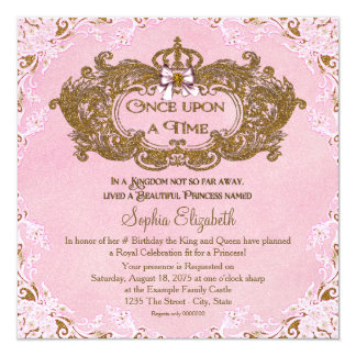 Once Upon a Time Princess Birthday Card