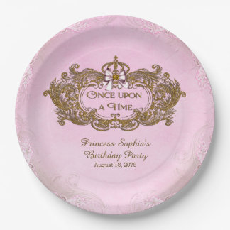 Once Upon a Time Princess Birthday Party 9 Inch Paper Plate