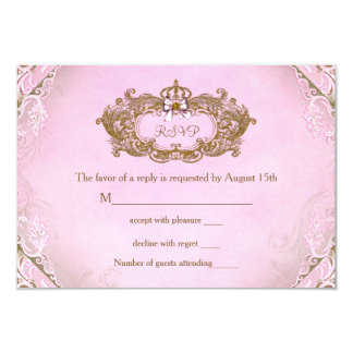 Once Upon a Time Princess Birthday RSVP 9 Cm X 13 Cm Invitation Card