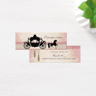 Once Upon a Time RSVP Mini Business Card