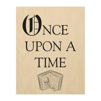 Once Upon A Time Story Nursery Decor Wood Art