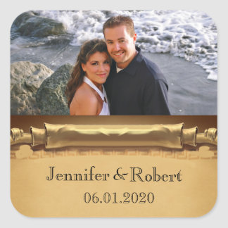 Once Upon a Time Wedding Favor Sticker