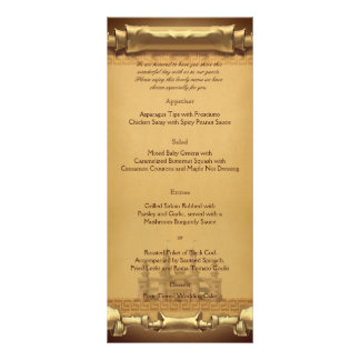 Once upon a Time Wedding Menu Full Color Rack Card