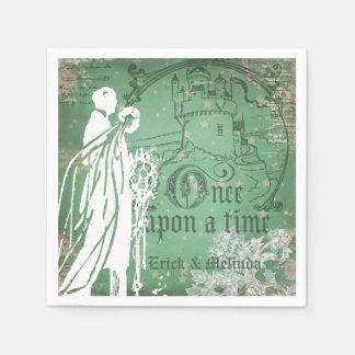 Once Upon a Time Wedding Paper Napkins Disposable Napkin