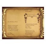Once Upon a Time Wedding Program 21.5 Cm X 28 Cm Flyer