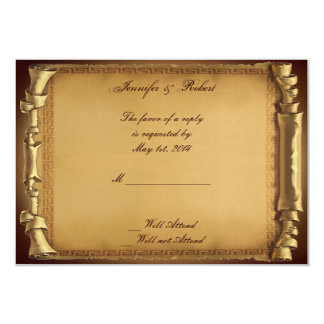 Once Upon a Time Wedding Response Card Custom Invite