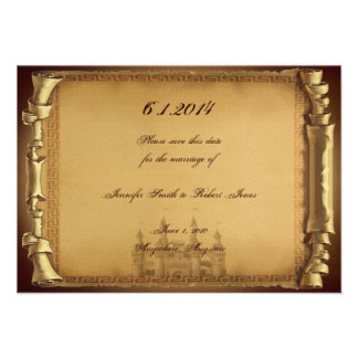 Once Upon a Time Wedding Save the Date Custom Invites