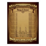Once Upon a Time Wedding Seating chart