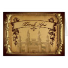 Once Upon a Time Wedding Thank You card