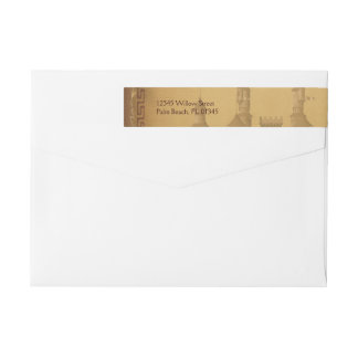 Once Upon a Time Wedding Wrap Around Label Wraparound Return Address Label