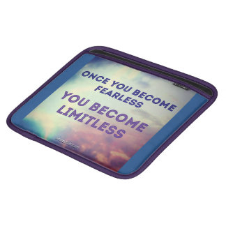 once you become fearless iPad sleeve
