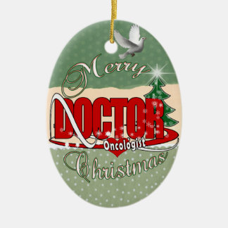 ONCOLOGIST DOCTOR MERRY CHRISTMAS CHRISTMAS ORNAMENT