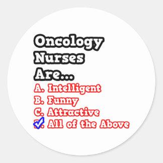Oncology Nurse Quiz...Joke Classic Round Sticker