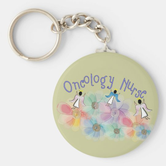 Oncology Nurse Whispy Angels & Flowers Design Basic