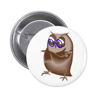 Ondell Owl 6 Cm Round Badge