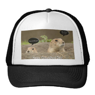 One a year Groundhog Day Trucker Hats