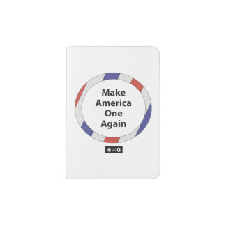One America Red White And Blue Patriotic Passport Holder