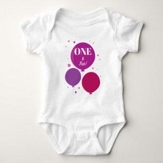 One and Fun purple birthday | Baby Bodysuit