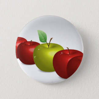 One apple for everyone 6 cm round badge