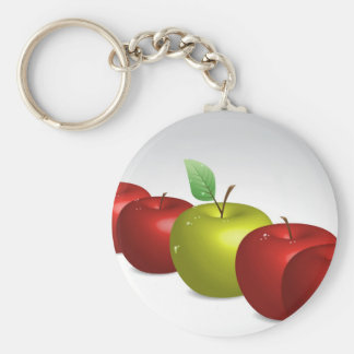 One apple for everyone basic round button key ring