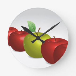 One apple for everyone clock